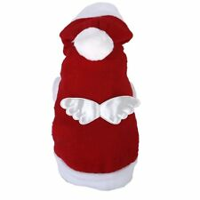 Christmas Santa Claus Pet/Dog/Cat Costume/Outfit/Clothes/Hoodie with Angel Wings