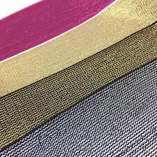 Top Quality 50mm Elastic With Metallic Thread, Gold, Red, Silver, Pink, Black