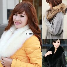 Women faux fur collar fur scarf shawl collar Scarves Warm Shawl Wrap Stole WN