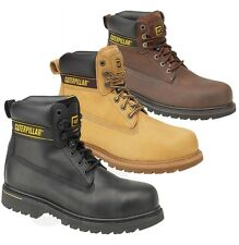 MENS Caterpillar CAT WIDE STEEL TOE CAP SAFETY WORK SHOES TRAINER BOOTS SZ 6-12
