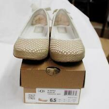 New With Box! UGG Women Indah Burlap Casual Shoes!! White