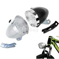 Vintage Cycling Bike Bicycle Super Bright Retro 3 LED Headlight Front Light Lamp