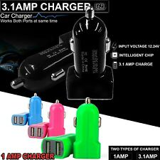 Universal USB car charger 2-Port Dual Adapter 12V 3.1A For Samsung iPhone HTC