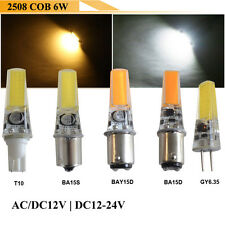 AC/DC12-24V GY6.35 T10 BA15D BA15S BAY15D 2508 COB LED Car Light Wedge Bulb Lamp
