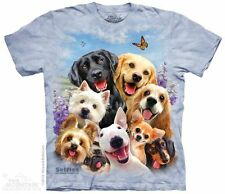 Dogs Selfie The Mountain Adult Size T-Shirt