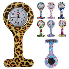 Fashion Patterned Silicone Nurses Brooch Fob Pocket Watch Stainless Dial Healthy