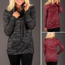 Womens Jumper Long Sleeve Pullover Tops Knitted Sweater Winter Coat New