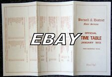 BURWELL & DISTRICT BUS TIMETABLE 1972