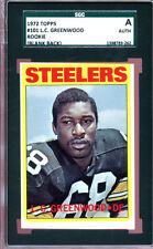 1972 Topps Football #101 L.C. Greenwood RC Blank Back SGC Auth 1388789-262