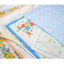 Women Child Ladies Cotton Flower Vintage #I Lot Handkerchiefs Quadrate Hankies