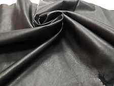 Lambskin Genuine Leather Hide Jet Black 2 oz.Buttery Soft Beautiful Hide