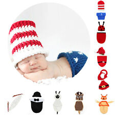 Newborn Baby Girl Boy Crochet Knit Costume Photography Photo Prop Hat Outfit Lot