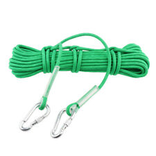 33ft/66ft 12KN Safety Climbing Rescue Rappel Auxiliary Rope Cord & 2 Carabiners