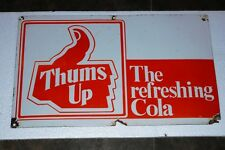 Bottle Advertising Antique Thumsup Coca Cola Porcelain Enamel Sign Board Drink