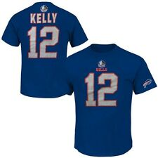 Jim Kelly #12 Buffalo Bills NFL Mens 3 Hit Player Shirt Royal Big & Tall Sizes