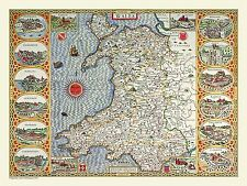 100, 500 or 1000 Piece Jigsaw Puzzle Map of Wales 1611 by John Speed