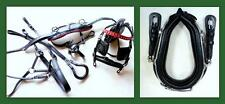 """13"""" Collar & Hames for Mini Pony Cart Driving Harness Black RED Accents leather"""