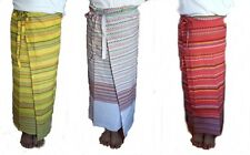 Thai Cotton Fabric Skirts Stitching Tie Waist Handmade Multi-Color Free Size