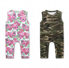 Newborn Toddler Infant Baby Pants Sleeveless Jumpsuit Romper Girls Boys Outfits