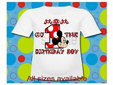 Dad of the Birthday Boy Mickey Mouse T Shirt All Sizes Mickey Mouse T Shirt
