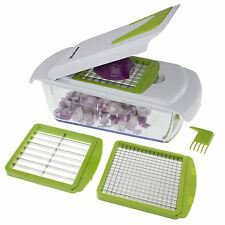 4-in-1 Onion, Vegetable, Fruit and Cheese Chopper with Storage Lid