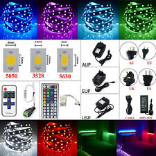 20M 10M 5M SMD 3528 5050 5630 RGB LED Flexible Strip Light /Remote /Power Supply
