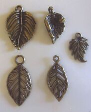 Charm Leaf Charm Antique Bronze Leaves Charm Pendants Charm