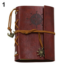RETRO ANCHOR FAUX LEATHER COVER NOTEBOOK JOURNAL DIARY BLANK NAUTICAL LOVELY