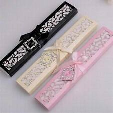 Haimi-hk 1 Set Box Wedding Wooden Hollow Vintage Lace Silk Folding Hand Fan