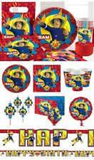 Fireman Sam Birthday Party Decorations Tableware Supplies Plates Napkins Cups