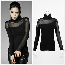 Punk Rave T-320 Gothic Punk Visual Kei Rock Spider Web Sexy Basic Top Shirt