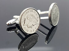 19TH BIRTHDAY 1998 SILVER 5P FIVE PENCE COIN CUFFLINKS / CHOOSE YOUR YEAR