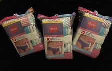 NEW Hanes Women's Cotton SPORTY HIPSTER Panties 10-Pack Multi-Color Size 6, 7, 8