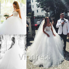 Empire White Ivory Wedding Dresses Lace Applique Beading Bridal Ball Gowns 2017