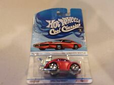 Hot Wheels Cool Classics Volkswagen Beetle (Red Car on Card) - A