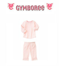 "Gymboree Baby Girl ""Animal Friends"" Reversable Top & Pants Set New 0-3 / 3-6 m"