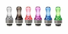 Hybrid Stainless Steel + Acrylic 510 Drip Tip - Choice of 6 Colours