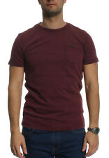 Superdry T-Shirt Men SUPERDRY LA SS PKT Dark Burgundy