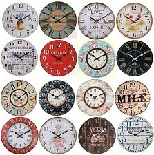 Large Vintage Wall Clocks Shabby Chic Rustic Antique Style Home Kitchen Clock