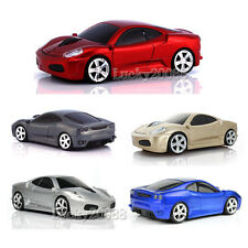 1600DPI Wireless 2.4G 3D Car Shape Optical Mouse Mice+USB Receiver For Laptop PC