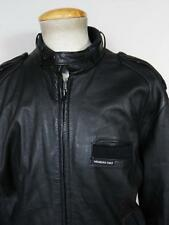 VINTAGE 80'S MEMBERS ONLY BLACK LEATHER BOMBER JACKET SIZE 44 LARGE CLASSIC
