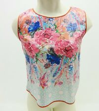 NWT Womens Dream Daily Multi Floral Sequin Sleeveless Tank Top Size XS