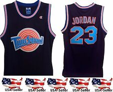 Michael Jordan #23 Tune Squad Space Jam Basketball Jersey Black S-XL