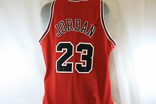 Used Mens NIKE Michael Jordan Chicago Bulls Red NBA #23 Authentic Jersey Size 56