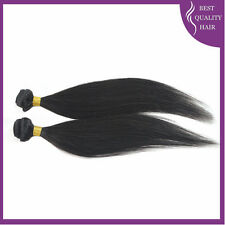 2Bundle Remy Hair Weave Straight Black Brazilian Human Hair Extensions 10''-20''