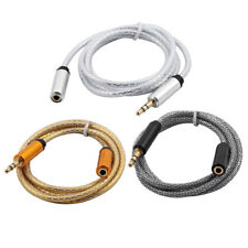Computer PC Speaker MP3 3.5mm Male to Female Stereo Audio Cable 96cm Long