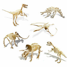 Kids Wooden Simulation Dinosaur Puzzle 3D Toy Dinosaur Skeleton Model Toy New