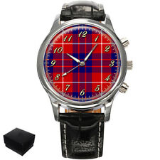 HAMILTON SCOTTISH CLAN TARTAN WRIST WATCH GIFT ENGRAVING