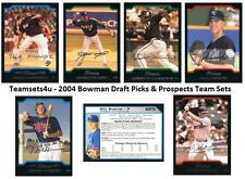 2004 Bowman Draft Picks & Prospects Baseball Set ** Pick Your Team **