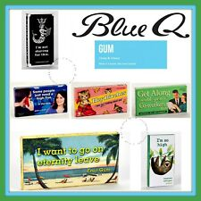 Blue Q Gum Funny Gag Gift Novelty 44 Different Designs-All Sold as Lot/3 Packs